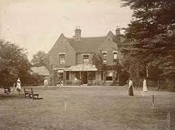 Old Sepia Photograph of Borley Rectory the most haunted house in England