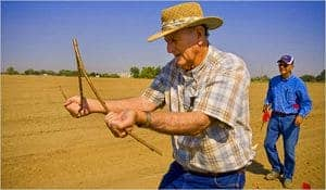 Dowsing with Rods