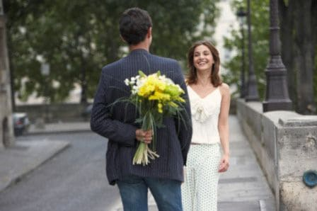 First date and flowers